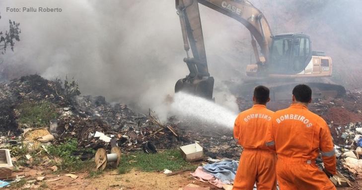Incêndio em Lixão em Bauru - Pallu Roberto