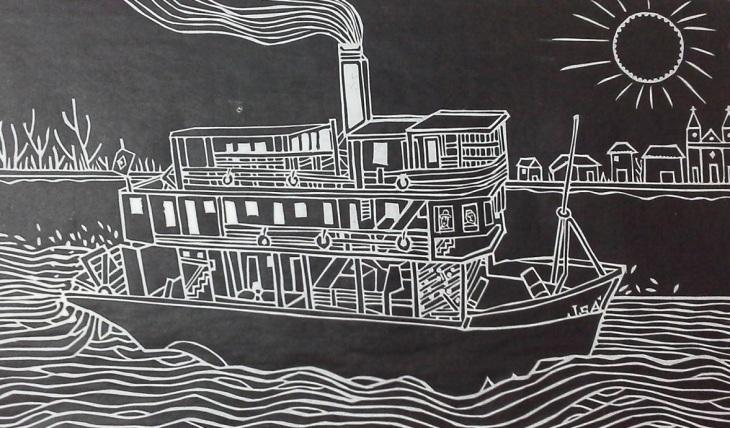 Gravura Rio São Francisco