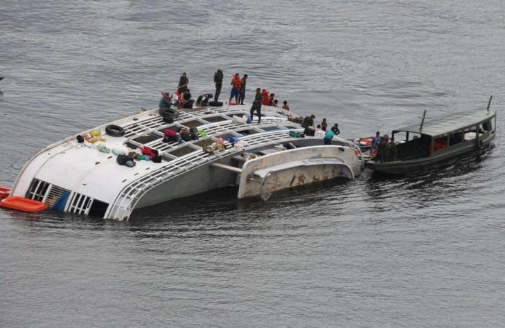 Acidente com barcos na Amazônia