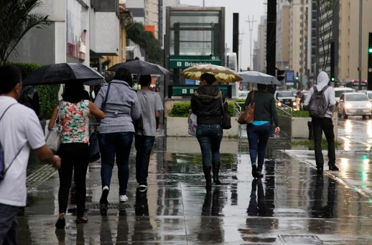 Chuva em São Paulo.