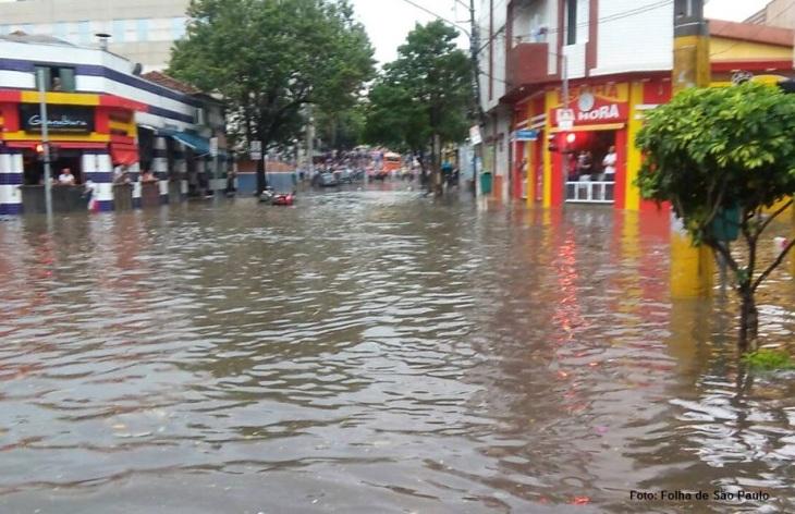 Enchente em São Paulo