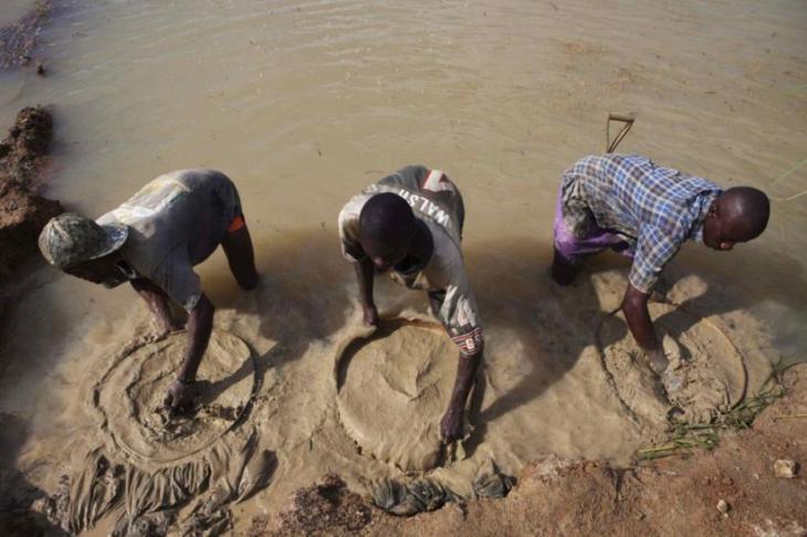 Diamantes em Serra Leoa