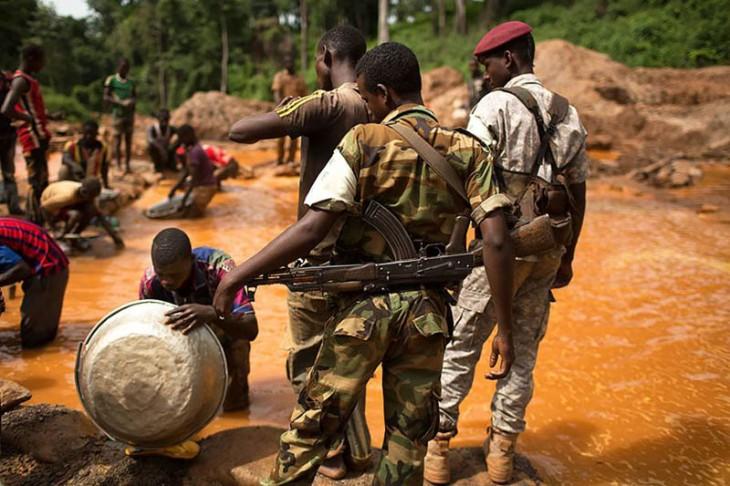 Mineração na África