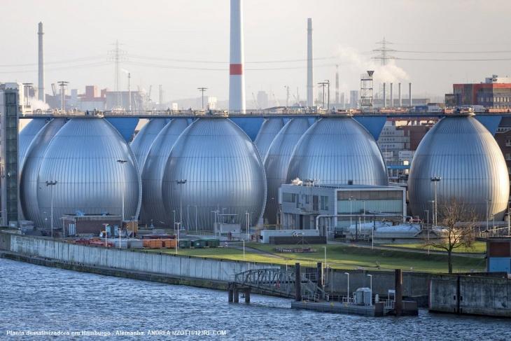 Usina de dessalinização em Hamburgo