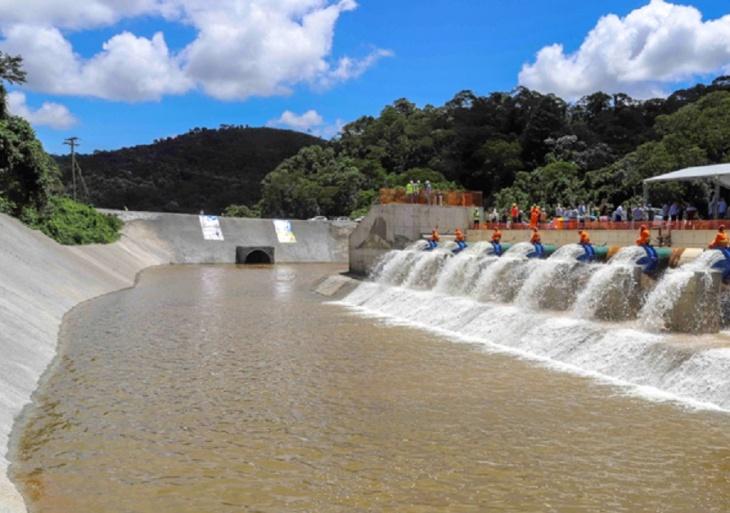 Início da Transferência de Água para o Sistema Cantareira - Jaguari-Atibainha.