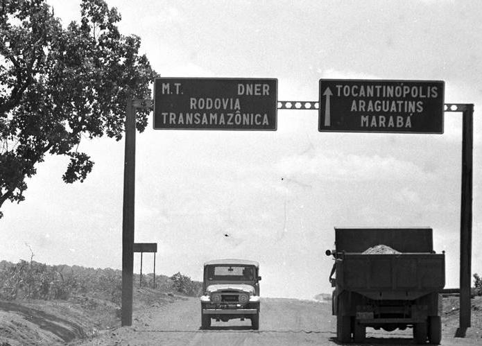 Rodovia Transamazônica em uso
