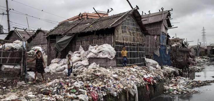 Recicladora de plásticos em Dhaka