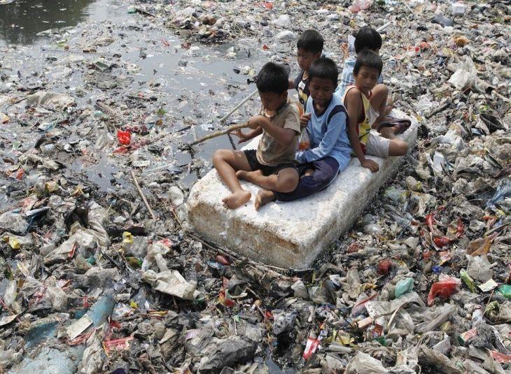 Poluição em rios da China