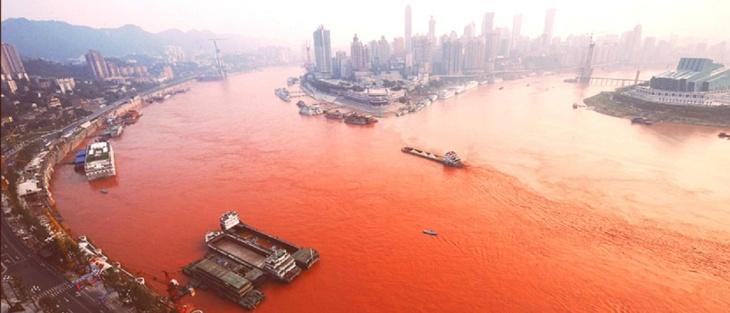 Rio Yangtzé em Xangai