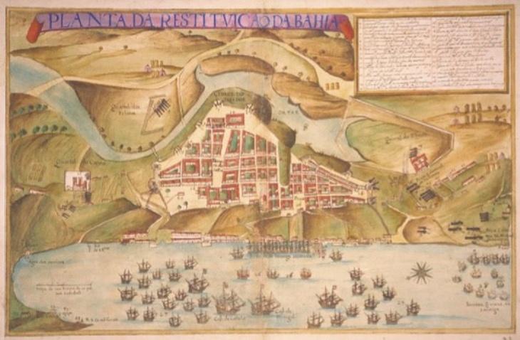 Mapa de Salvador século XVI